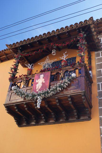 Julepyntet balkong