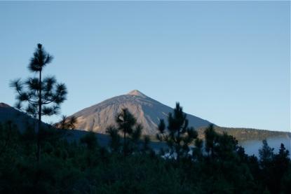 På vei opp mot Teide en morgenstund.