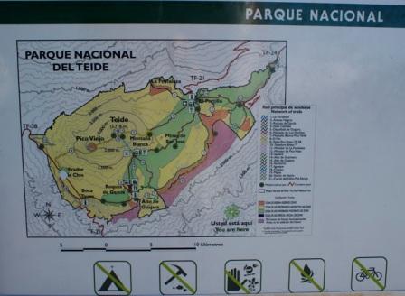 Informasjonstavle over nasjonalparken