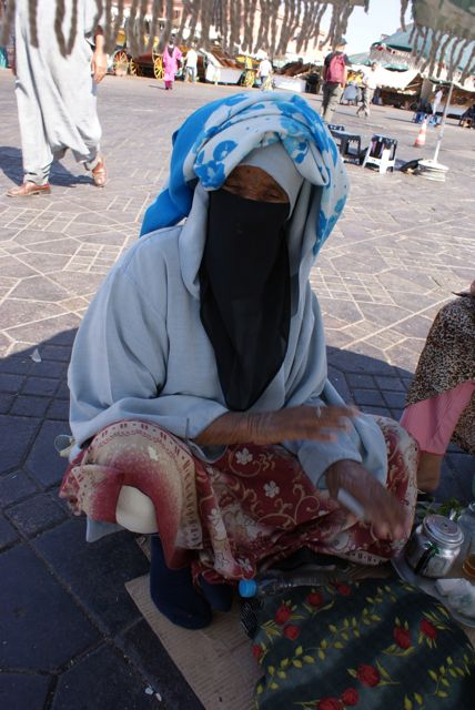 Spåkone på markedsplassen i Marrakech